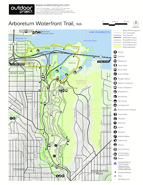 Arboretum Waterfront Trail Trail Map
