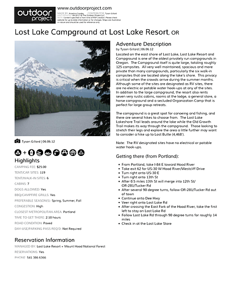 Lost Lake Campground Field Guide