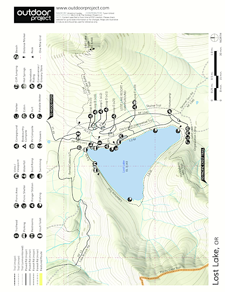 Lost Lake Campground Map