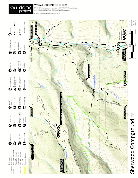 Sherwood Campground Map