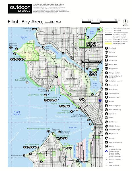 Alki Beach Seattle Map.Alki Beach Outdoor Project