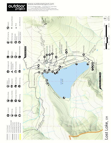 Lost Lake Organization Camp Map