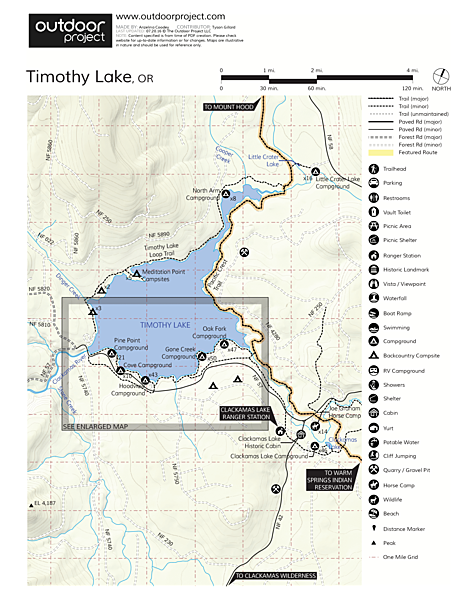 Timothy Lake, Hoodview Campground Map