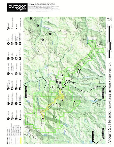Mount Saint Helena Outdoor Project - Saint helena map