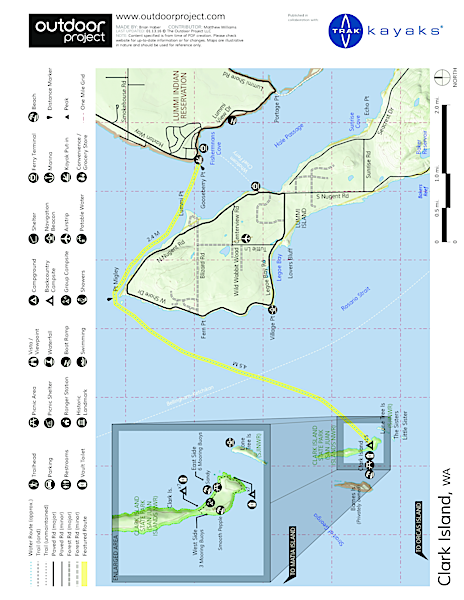 Clark Island Sea Kayaking Map