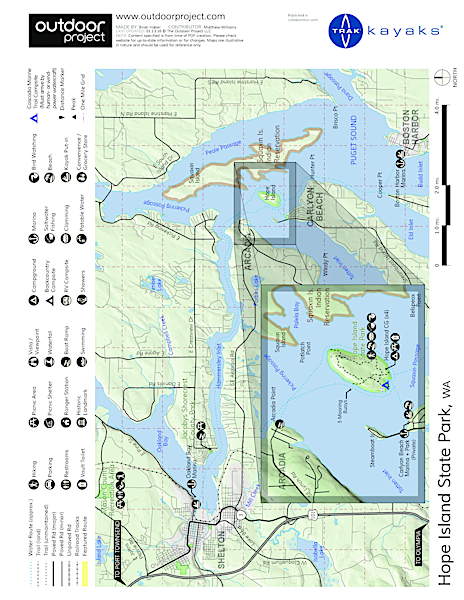 Hope Island State Park Sea Kayaking Map
