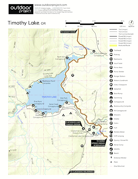 Clackamas Lake Campground Map