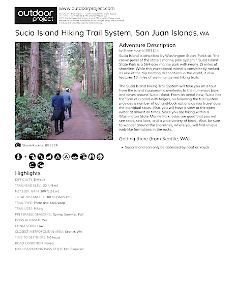 Sucia Island Hiking Trail System Field Guide