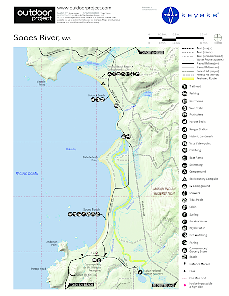 Sooes River Kayak/Canoe Map