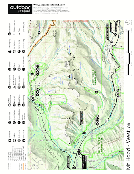 Sandy River Campsites Map