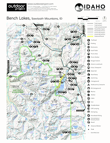 Bench Lakes Trail Map