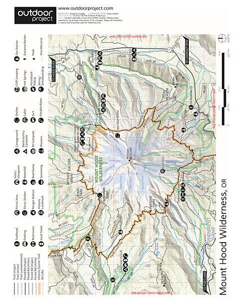 Paradise Park via Timberline Lodge Trail Map