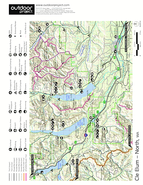 Kachess Lake Campground Map