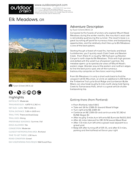 Elk Meadows Field Guide