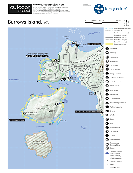 Burrows Island Sea Kayaking Map