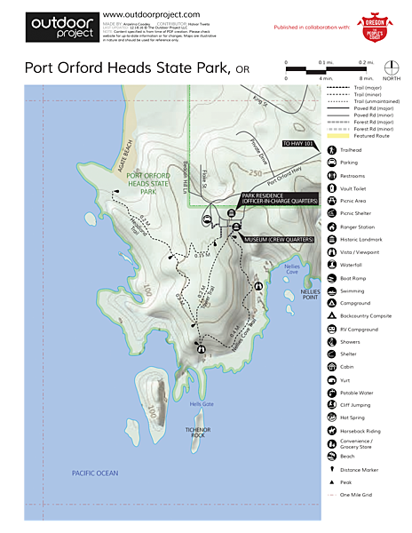 Port Orford Heads State Park Map
