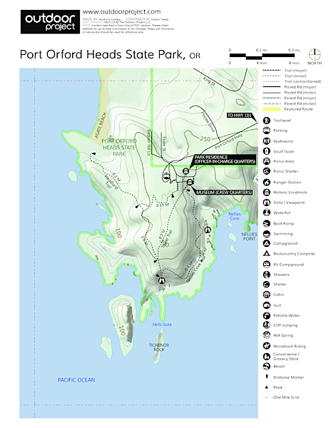 Port Orford Heads State Park Trails Trail Map