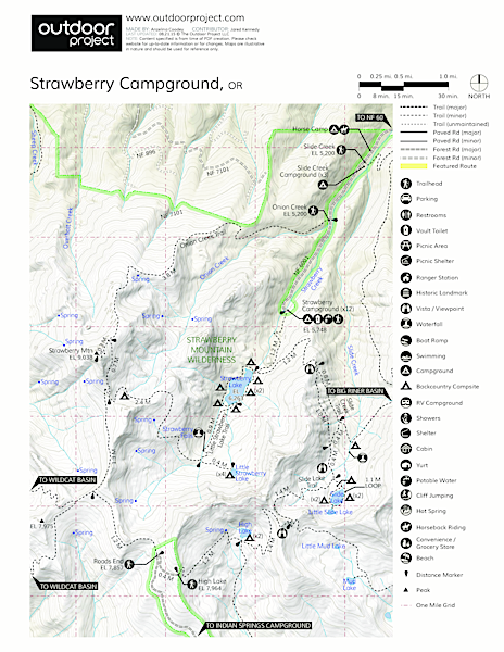 Strawberry Campground Map