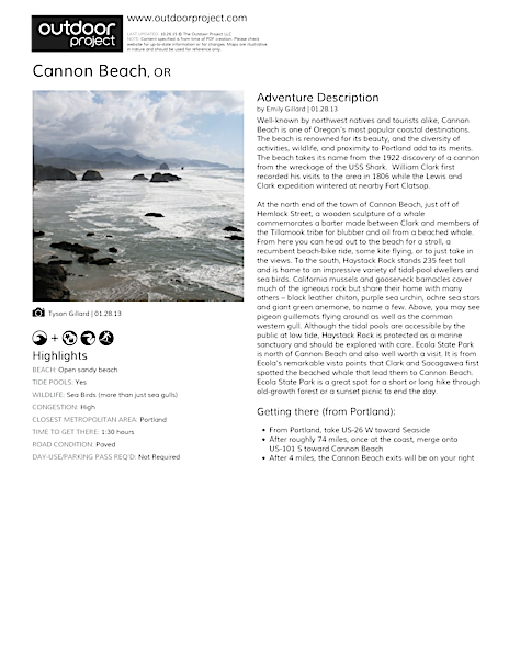 Cannon Beach Field Guide