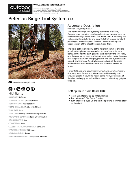 Peterson Ridge Trail System Field Guide
