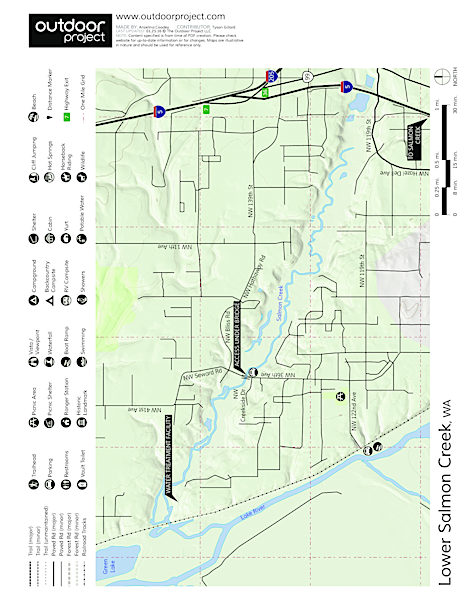 Lower Salmon Creek Canoe/Kayak Map