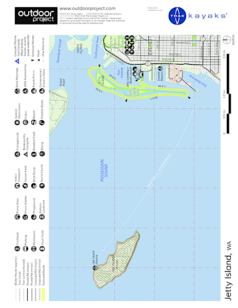 Jetty Island Sea Kayaking Map