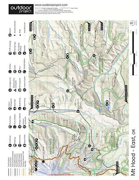 Cooper Spur + Cloud Cap Hike Trail Map