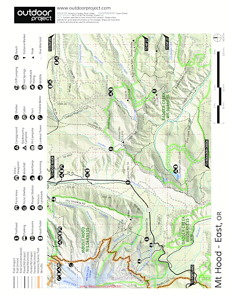 Tilly Jane Campground Map