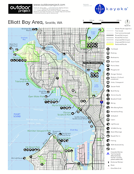 Duwamish Waterway Sea Kayaking Map