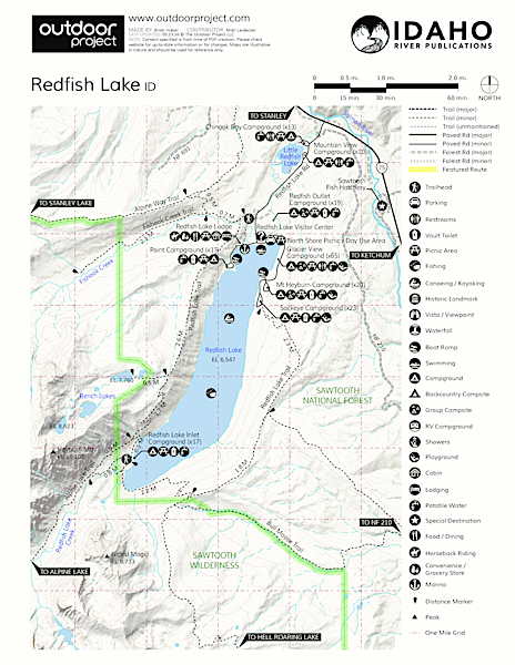 Redfish Inlet Hikes Trail Map