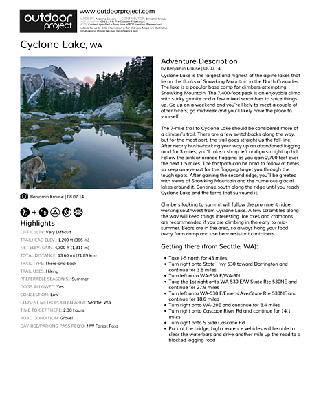 Cyclone Lake Field Guide