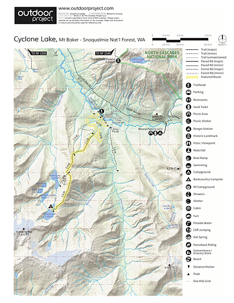 Cyclone Lake Trail Map