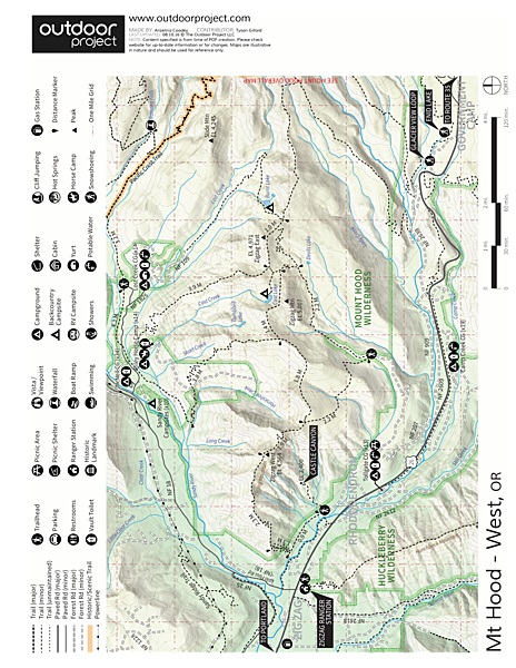 Ramona Falls Hike Trail Map
