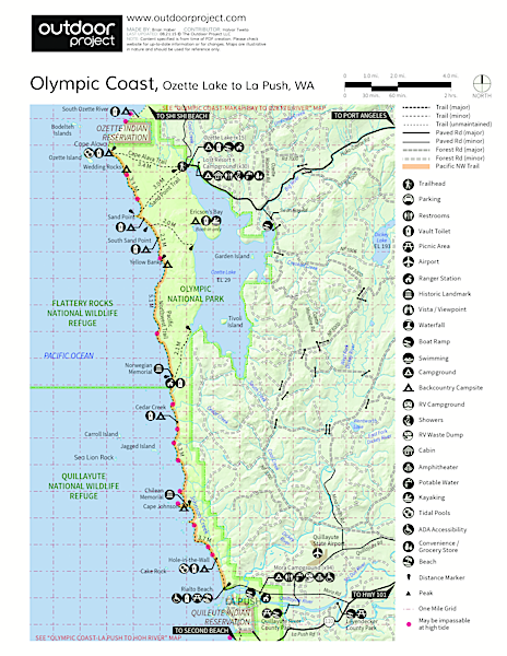 Ozette, North Sand Point Trail Trail Map