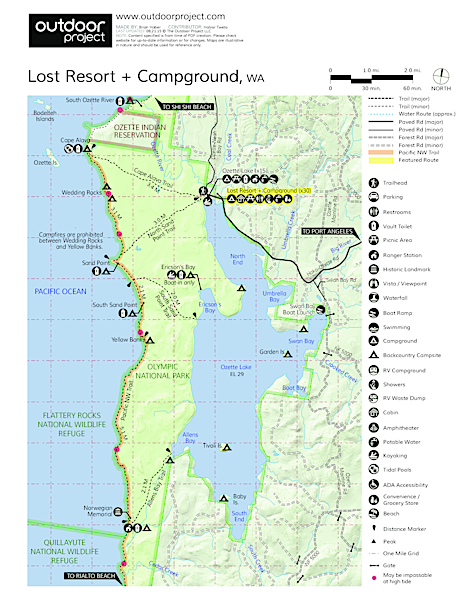 The Lost Resort + Campground Map