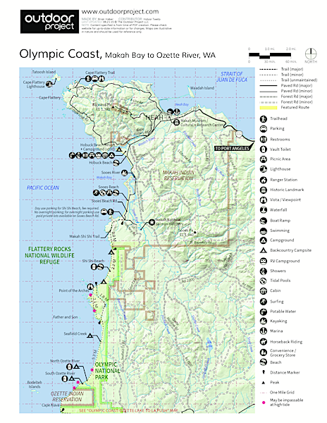 Shi Shi Beach Hike Trail Map