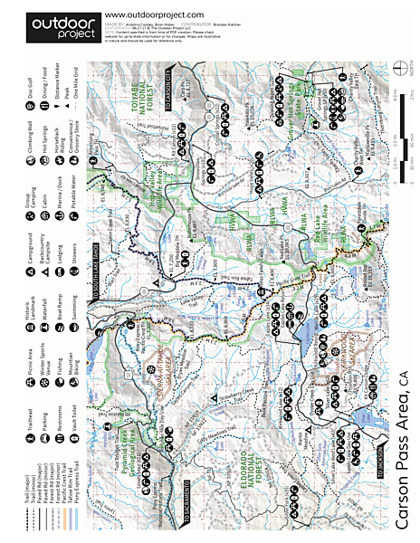 Red Lake Peak Loop Trail Map