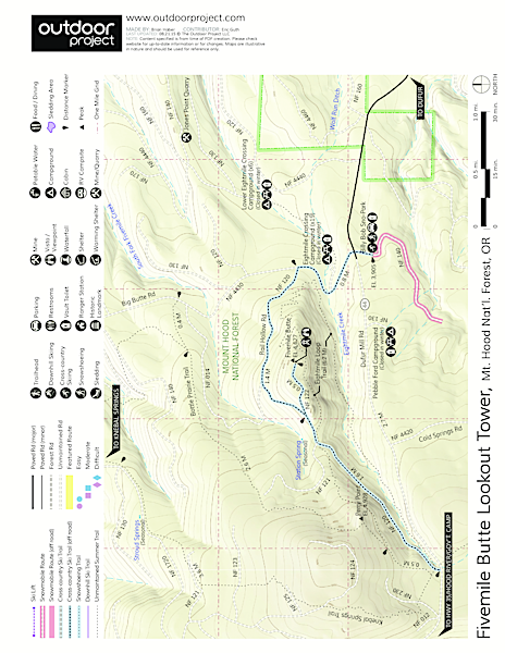 Fivemile Butte Lookout Tower Map