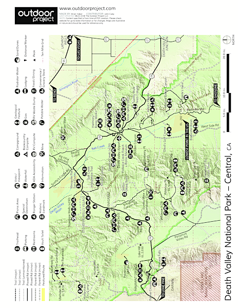 Badwater Basin Trail Map