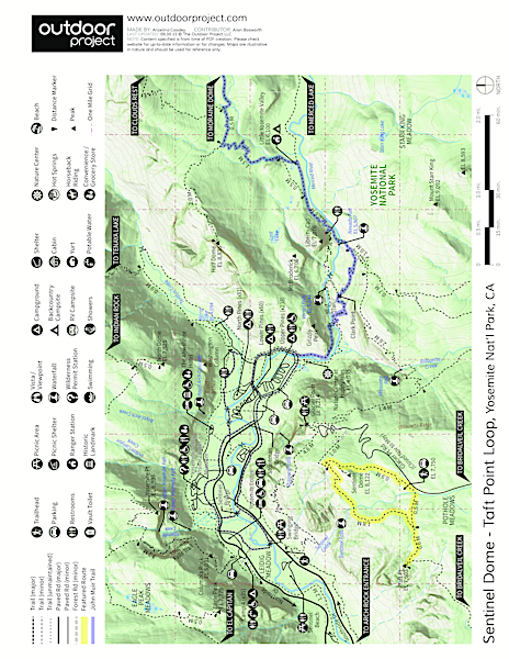 Sentinel Dome - Taft Point Loop Trail Map