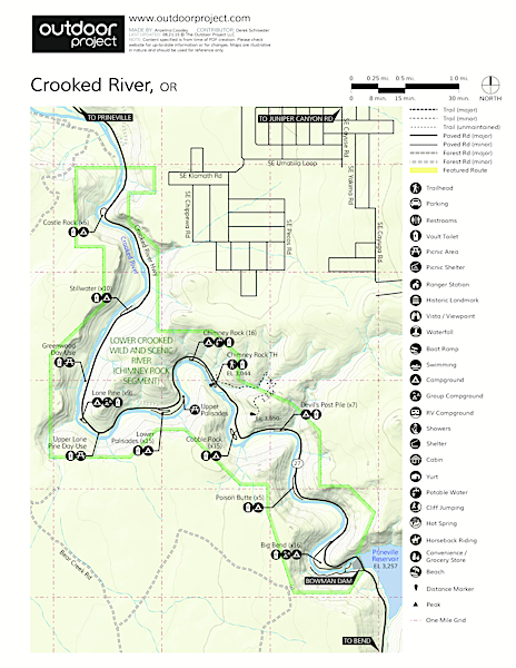 Crooked River Map