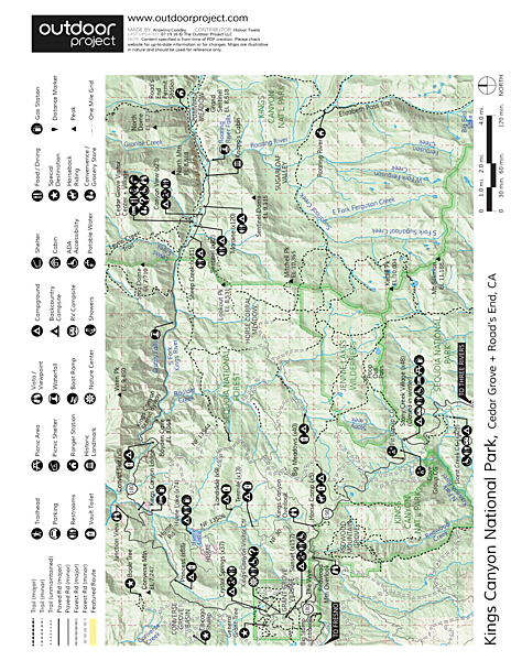 Hume Lake Campground Map