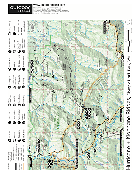 Klahhane Ridge Trail + Sunrise Point Trail Map