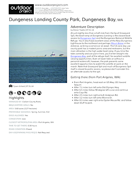 Dungeness Landing County Park Field Guide
