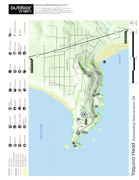 Yaquina Head Outstanding Natural Area Map