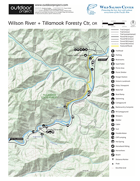 Wilson River + Tillamook Forestry Center Field Guide
