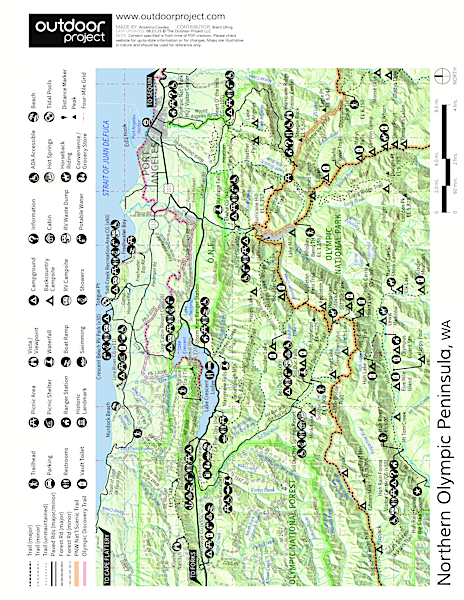 Mount Angeles Via Switchback Trail Trail Map