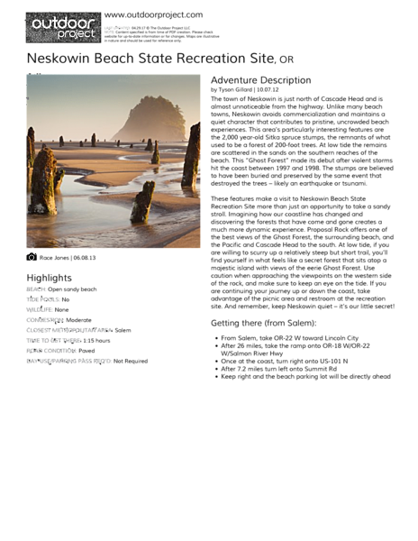 Neskowin Beach State Recreation Site Field Guide