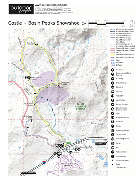 Castle Peak + Basin Peak Map