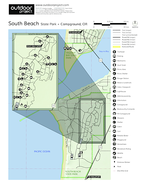 South Beach State Park Campground Map